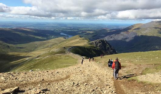 Climb Snowdon - Summit Routes - Llanberis Path
